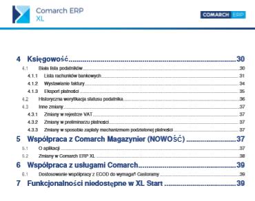 Zmiany funkcjonalne wprowadzone w Comarch ERP XL w wersji 2019.3 Spis treści str  2